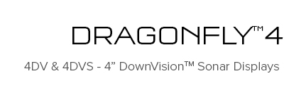 Dragonfly 4DV and 4DVS - 4 Inch DownVision Sonar Displays | Raymarine - A Brand by FLIR