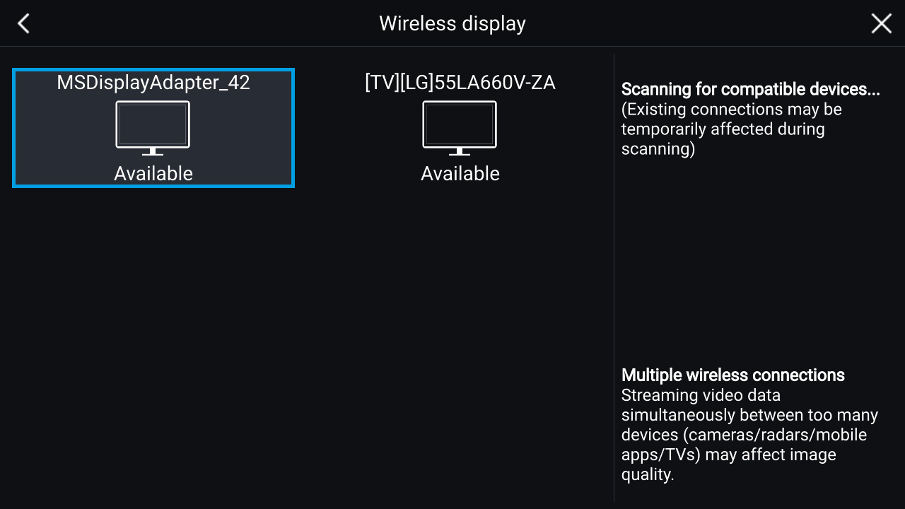 LightHouse 3.2 – trådløst display (MiraCast) | Raymarine av FLIR
