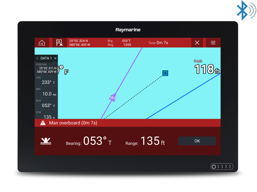 LightHouse 3.5 – Bluetooth-alarmutgang | Raymarine fra FLIR